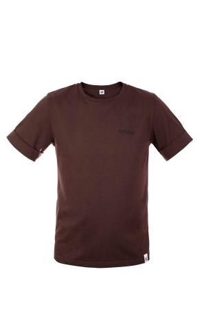 Koszulka męska COLOUR TEE ciemny brąz